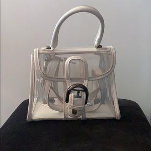 Clear white handbag